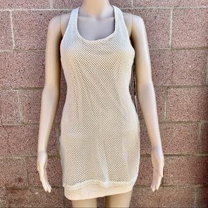 Lovers + Friends Mesh Net Mini Sheath Dress sz M
